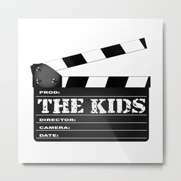 The Kids Clapperboard Metal Print