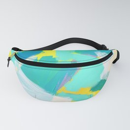 Be Kind, Be OK - mint modern mint abstract painting pastel colors Fanny Pack