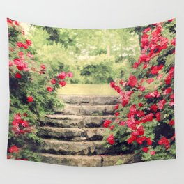 The Rose Garden Wall Tapestry