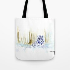 Frost Tiger Tote Bag