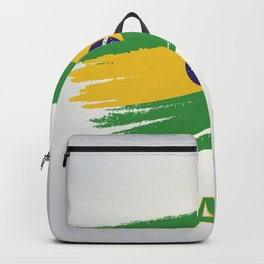 Abstract Brazil Flag Design Backpack