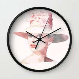Audrey Hepburn - Watercolor Wall Clock