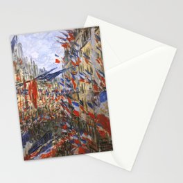 """Claude Monet """"The Rue Saint Denis, 30th of June 1878"""" Stationery Cards"""