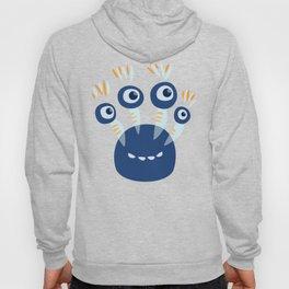 Cute Blue Four Eyed Monster Hoody