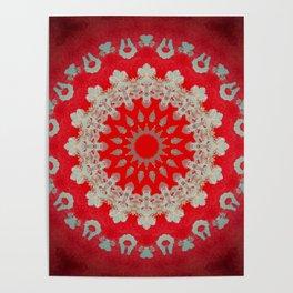 Bright Red Mandala Poster