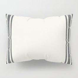 Gray Grey Stripes on light creme french grainsack digital design Pillow Sham
