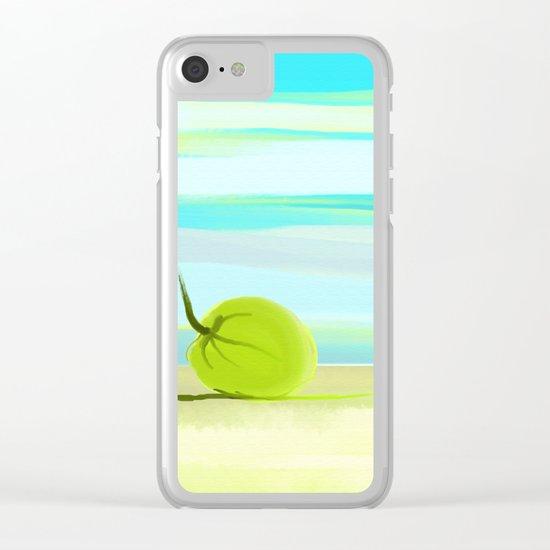 tropic beach Clear iPhone Case