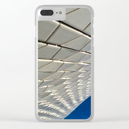 White roof of the MAAT Art Centre in Lisboa Clear iPhone Case