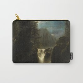 Waterfall in the Italian Countryside by Oswald Achenbach Carry-All Pouch