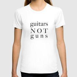 guitars not guns T-shirt