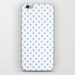 Brandeis Blue on White Snowflakes iPhone Skin