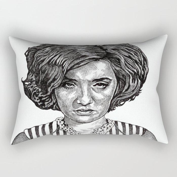 Big Hair Texas Trouble Rectangular Pillow
