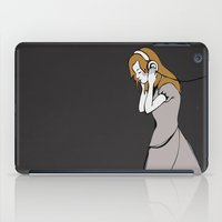 headphones iPad Cases featuring Velvet Headphones by danaki
