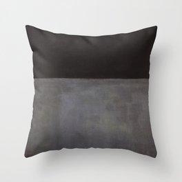 Mark Rothko Black on Grey Throw Pillow