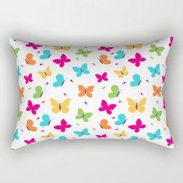 Colorful Butterflies Rectangular Pillow