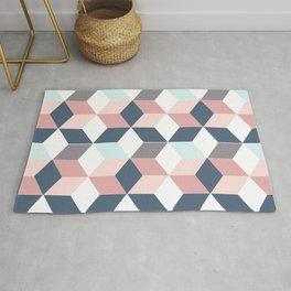 Starry cubes Rug