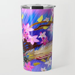Deer Painting with Abstract Colours Travel Mug