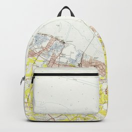 Vintage Map of Sandy Hook NJ (1954) Backpack