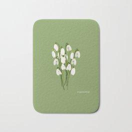 Bouquet Of Snowdrops Bath Mat