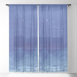 Cancer Constellation, mountains Sheer Curtain