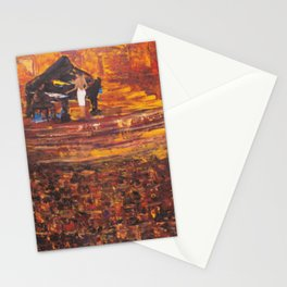 Piano Player with Singer Stationery Cards
