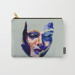 Face in Acrylic Carry-All Pouch