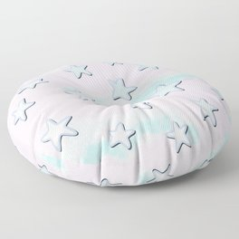 Sweet Pastel Stars And Clouds! Floor Pillow
