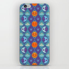 The sun, the moon and the stars iPhone Skin