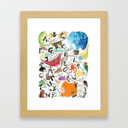 English Alphabet Framed Art Print