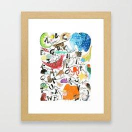 English Alphabet Framed Art Print
