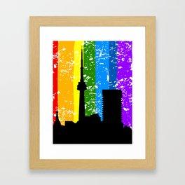 City a rainbow Framed Art Print