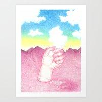 La Main et le Nuage Art Print