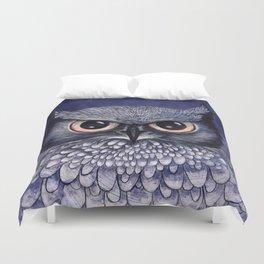 La Sagesse du Hibou (The Blue Owl) Duvet Cover