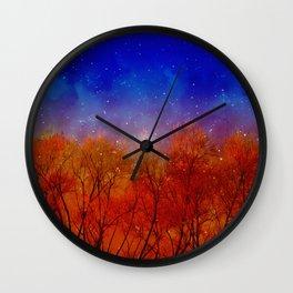Night on fire Wall Clock