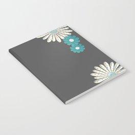 Gray,blue flowers Notebook