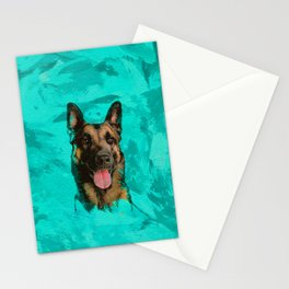 Malinois - Belgian shepherd -Mechelaar -Maligator Stationery Cards