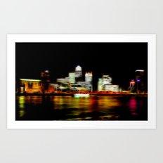 London Canary Wharf Art Print