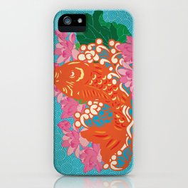 Fish (Japan Carp) Graphic with Japan Painting Style iPhone Case