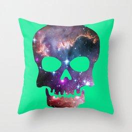 Galaxy Skull (Robin's Egg) Throw Pillow