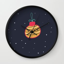 Merry Christmas and a Happy New Year Bauble Print Wall Clock
