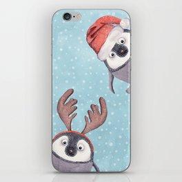 CHRISTMAS PENGUINS iPhone Skin