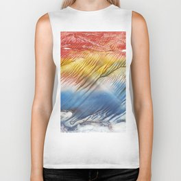The Wind - abstract landscape watercolor monotype Biker Tank
