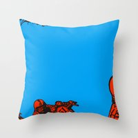 motorcycle Throw Pillows featuring Motorcycle by bike51design