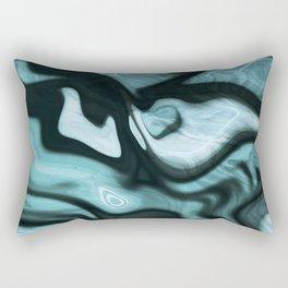 Amazonite marbled pattern Rectangular Pillow
