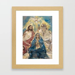 Anointing of Mary Framed Art Print