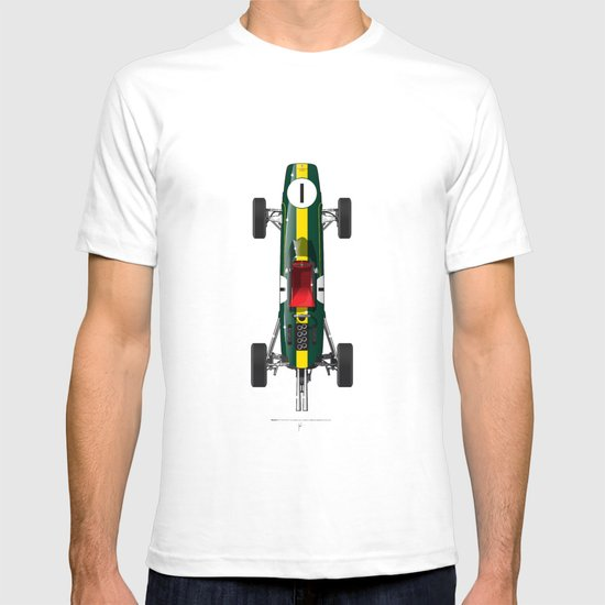 Outline Series N.º1, Jim Clark, Lotus 25-Coventry Climax 1962 T-shirt