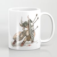 bouletcorp Mugs featuring Écureuil Barbare by Bouletcorp
