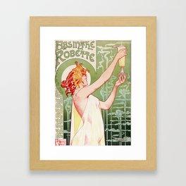 Art Nouveau Absinthe Robette Ad Framed Art Print