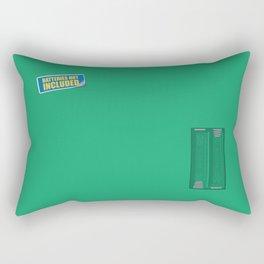 Batteries Not Included ~ Green Rectangular Pillow