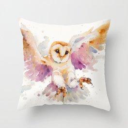 Twilight Owl Throw Pillow